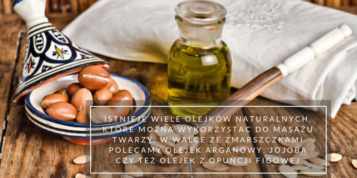 masaż twarzy olejem
