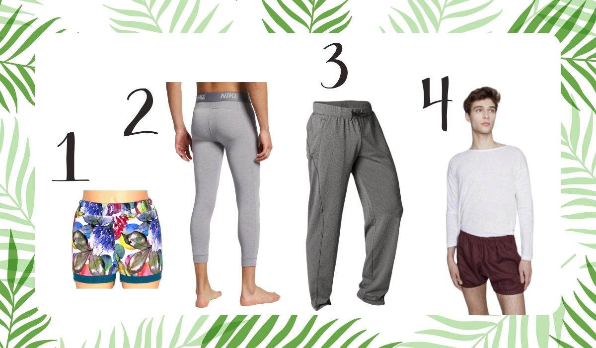 męskie spodnie do jogi