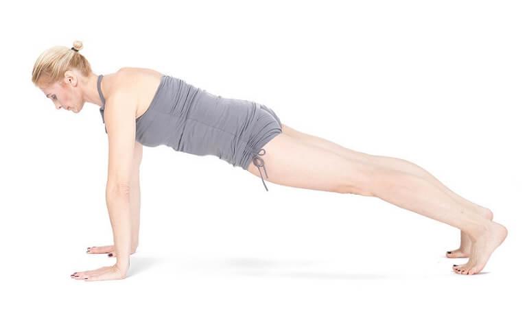 joga na mięśnie brzucha Khumbakasana