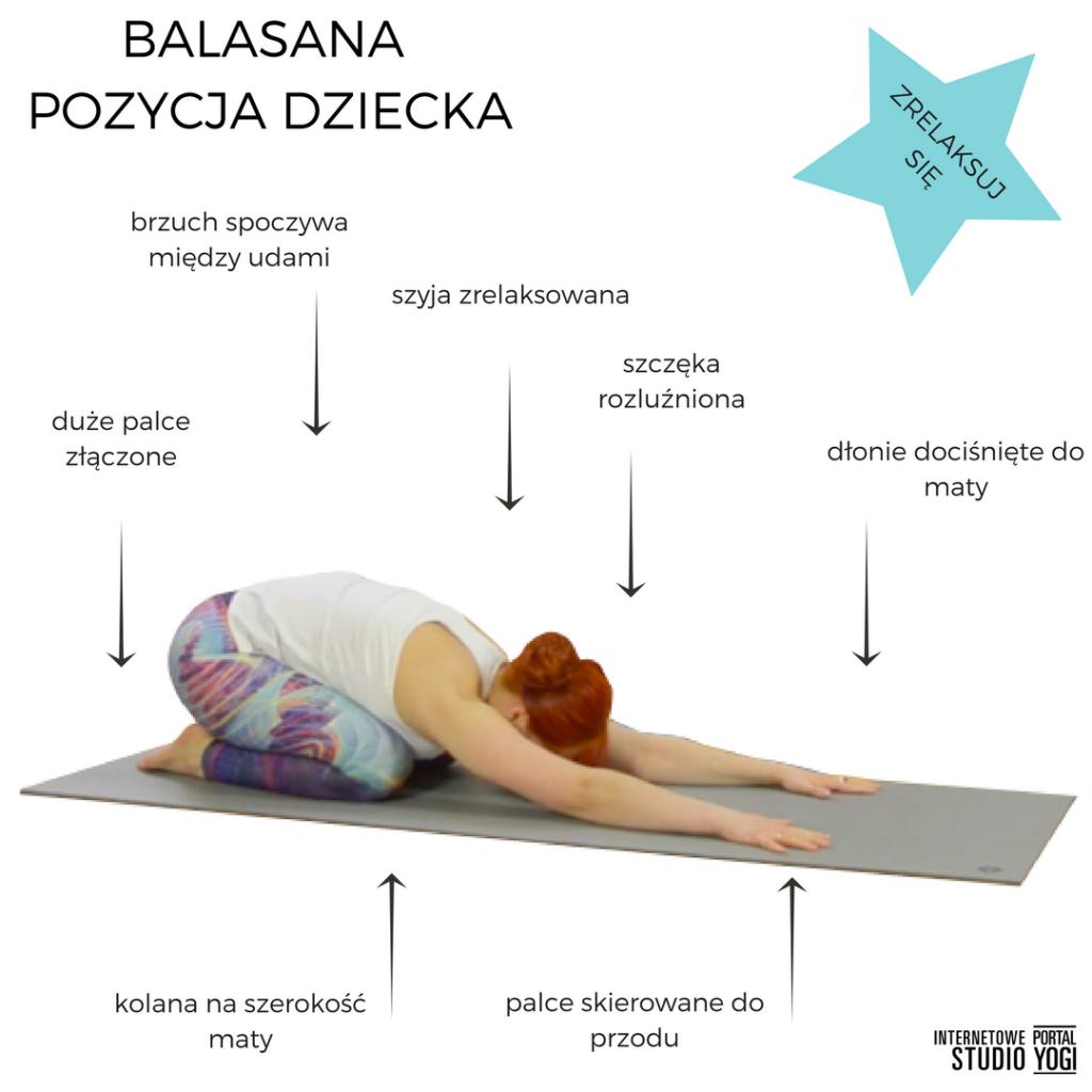 Balasana Pozycja dziecka joga