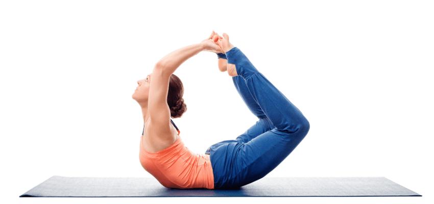 Dhanurasana (Pozycja Łuku)wzmacnianie mięśni brzucha